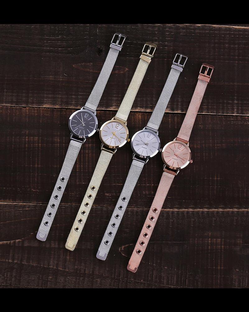 Fashion Favorite Blanche Silver / Black Horloge | Zilverkleurig - Zwart | Ø 30 mm