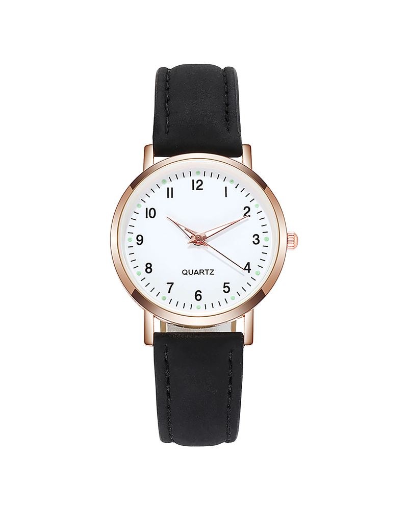 Fashion Favorite Doukou Black Horloge | Suedine - Kunstleer | Zwart | Ø 32,5 mm
