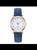 Fashion Favorite Doukou Blue Horloge | Suedine - Kunstleer | Blauw | Ø 32,5 mm