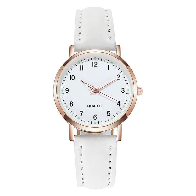 Doukou White Horloge   Suedine - Kunstleer   Wit   Ø 32,5 mm