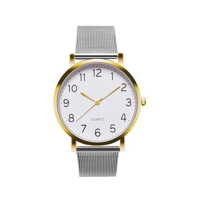 Nero Horloge Zilver / Goud Horloge | Staal | Ø 40 mm