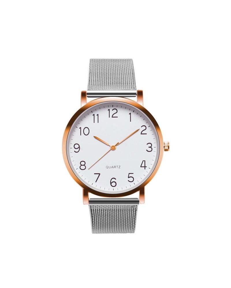 Fashion Favorite Nero Horloge Zilver / Rose Horloge | Staal | Ø 40 mm
