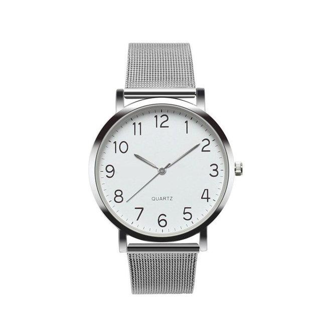 Nero Horloge Zilver / Zilver Horloge | Staal | Ø 40 mm
