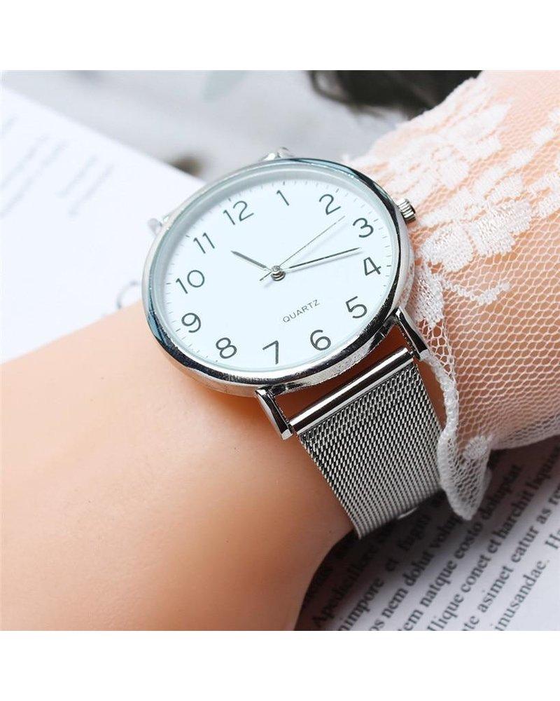 Fashion Favorite Nero Horloge Zilver / Zilver Horloge | Staal | Ø 40 mm