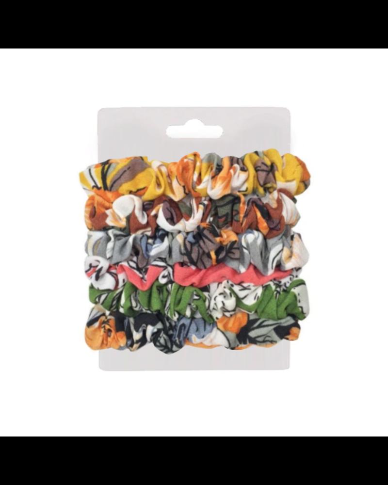 Fashion Favorite Haarelastiek Colors   Mix 6 stuks   Scrunchie / Haarwokkel   Fashion Favorite