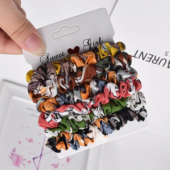 Haarelastiek Colors | Mix 6 stuks | Scrunchie / Haarwokkel | Fashion Favorite