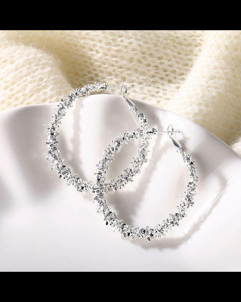 Fashion Favorite Rush Silver Oorringen 45 mm | Zilverkleurig | Clipsluiting | Fashion Favorite