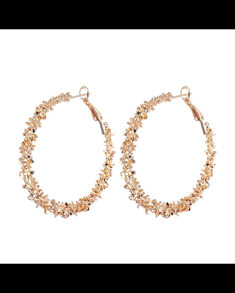 Fashion Favorite Rush Gold Oorringen 45 mm | Goudkleurig | Clipsluiting | Fashion Favorite
