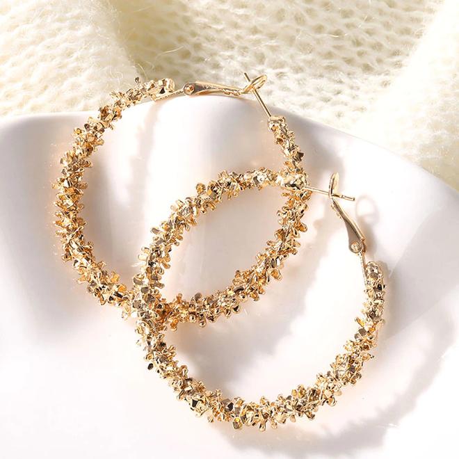 Rush Gold Oorringen 45 mm | Goudkleurig | Clipsluiting | Fashion Favorite