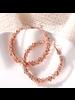 Fashion Favorite Rush Rose Oorringen 45 mm | Rosekleurig | Clipsluiting | Fashion Favorite