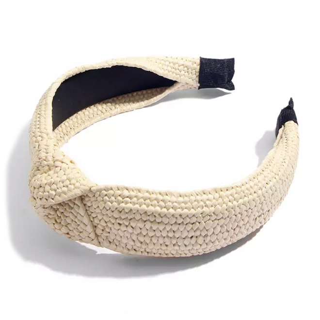 Ibiza Beach Haarband / Boho Knot Ecru