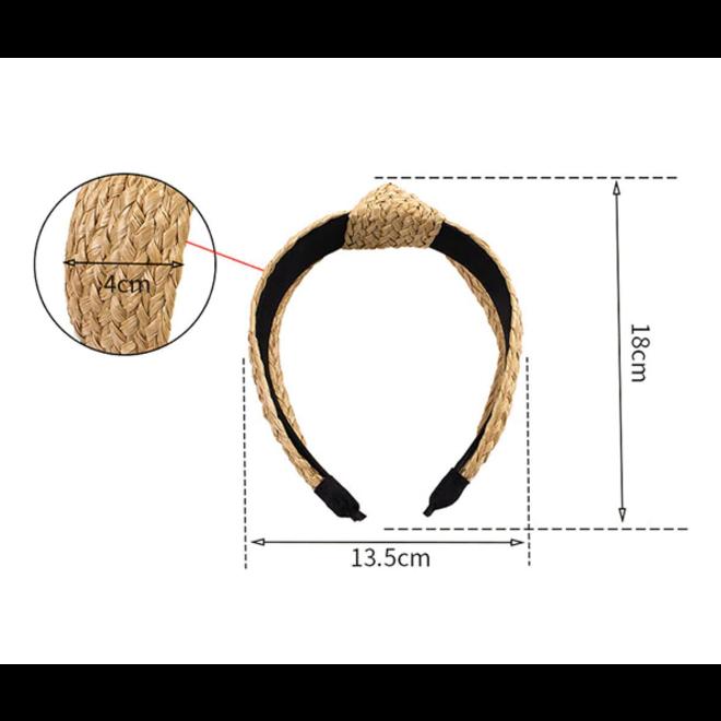 Ibiza Beach Haarband / Diadeem | Boho Knot Ecru | Rotan Look