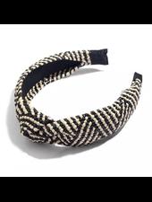 Fashion Favorite Ibiza Beach Haarband / Boho Knot Zwart / Ecru
