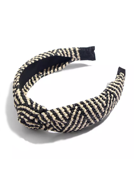 Fashion Favorite Ibiza Beach Haarband / Diadeem | Boho Knot Zwart / Ecru