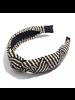 Fashion Favorite Ibiza Beach Haarband / Diadeem | Boho Knot Zwart / Ecru | Rotan Look