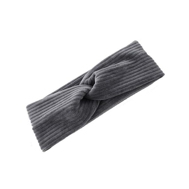 Velvet Canary Haarband Grijs | Velours-Velvet-Ribfluweel | Bandana