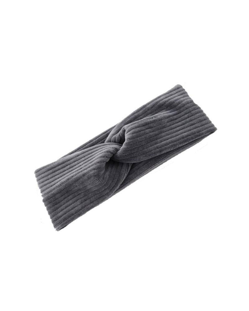 Fashion Favorite Velvet Canary Haarband Grijs | Velours-Velvet-Ribfluweel | Bandana