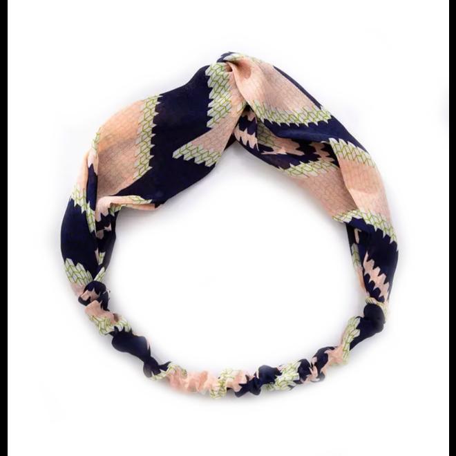 Haarband Pretty Zalm/Blauw