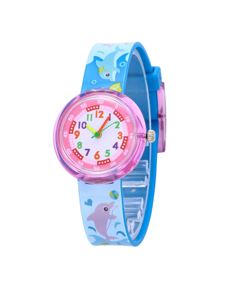 Fashion Favorite Kinderhorloge Dolfijn Blauw | Kunststof/Plastic | Ø 33 mm