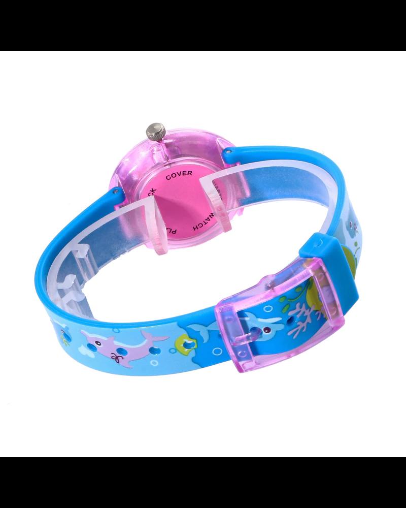 Fashion Favorite Kinderhorloge Eenhoorn/Unicorn Paars   Kunststof/Plastic   Ø 33 mm