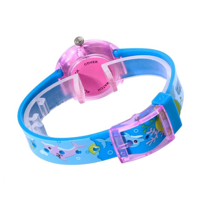 Kinderhorloge Leeuw Blauw | Kunststof/Plastic | Ø 33 mm