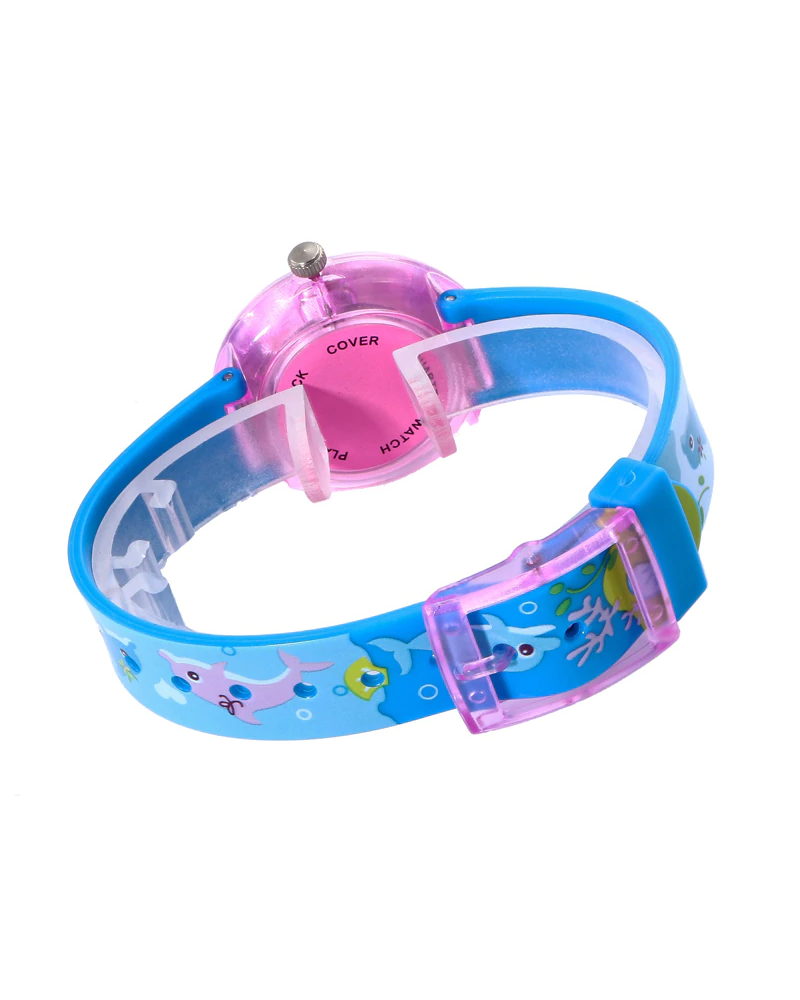 Fashion Favorite Kinderhorloge Leeuw Blauw | Kunststof/Plastic | Ø 33 mm