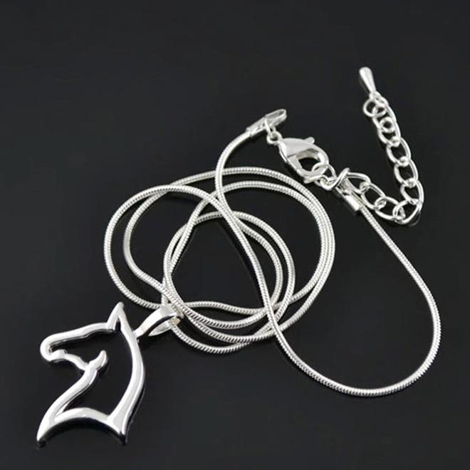 Fashion Favorite Ketting Paard - Kinderen - Zilver - 45 cm