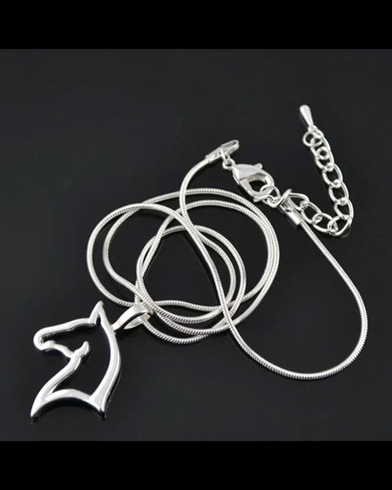 Fashion Favorite Fashion Favorite Ketting Paard - Kinderen - Zilver - 45 cm