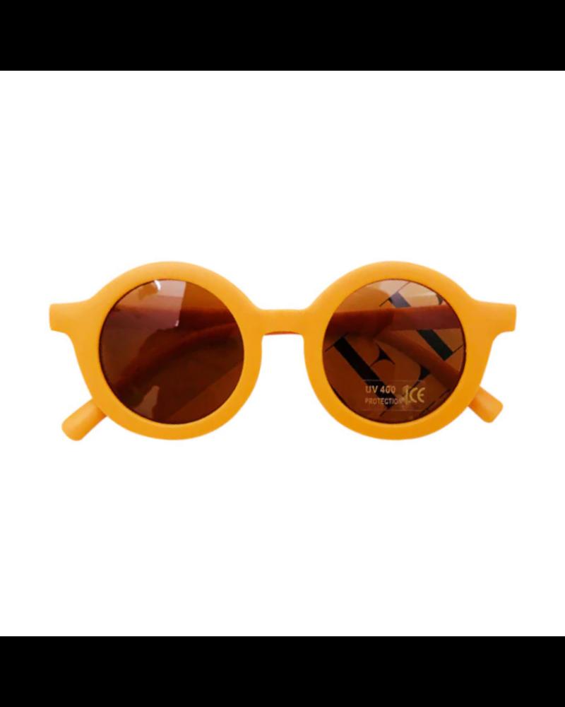 Fashion Favorite Kinder Zonnebril - Mat Okergeel - Vintage - UV400