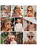 Fashion Favorite Kinder Zonnebril - Mat Taupe - Vintage - UV400