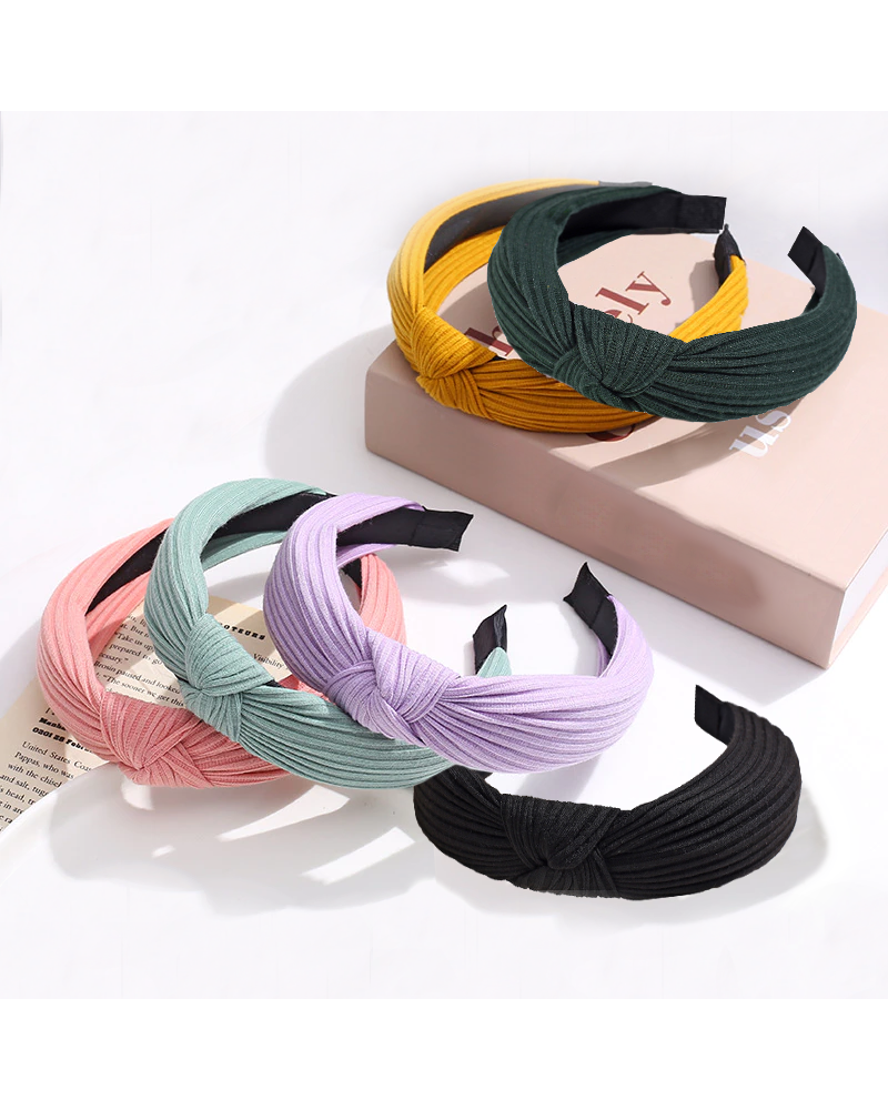 Fashion Favorite Knitted Diadeem - Okergeel