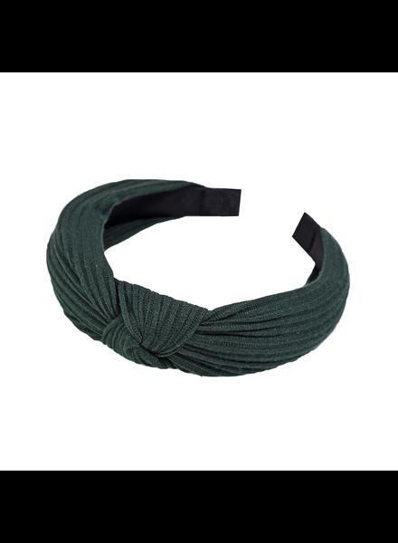 Fashion Favorite Knitted Diadeem - Donkergroen