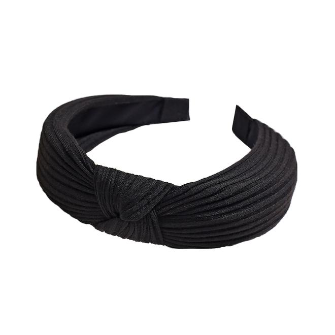 Knitted Diadeem - Zwart