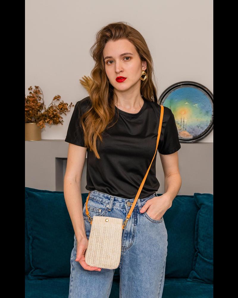 Fashion Favorite Smartphone Tasje - Stro Crème