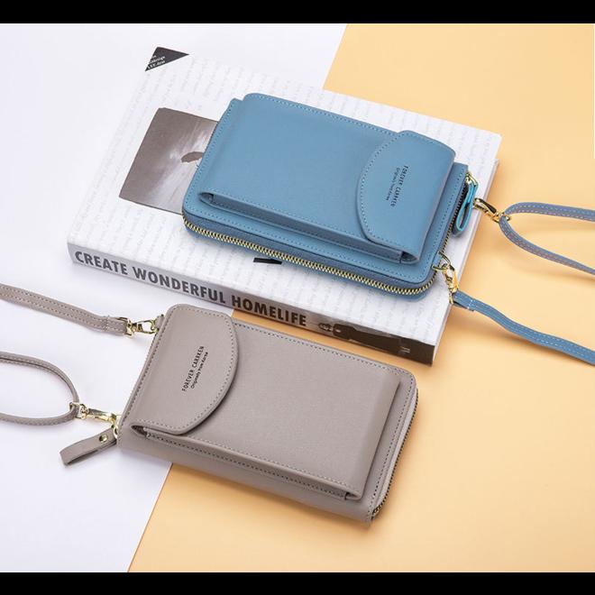 Smartphone Tasje - Taupe | Kunstleer