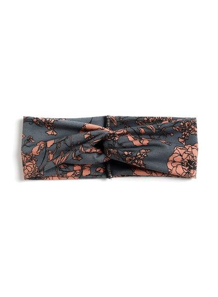 Fashion Favorite Haarband Flower Grijs/Oudroze