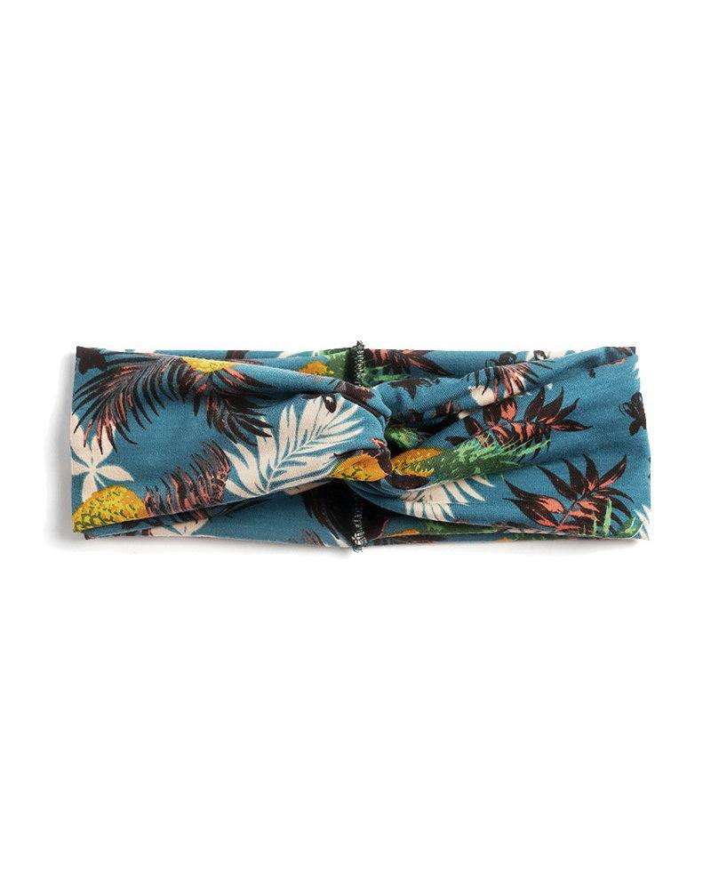 Fashion Favorite Haarband Leaf Petrol - Okergeel