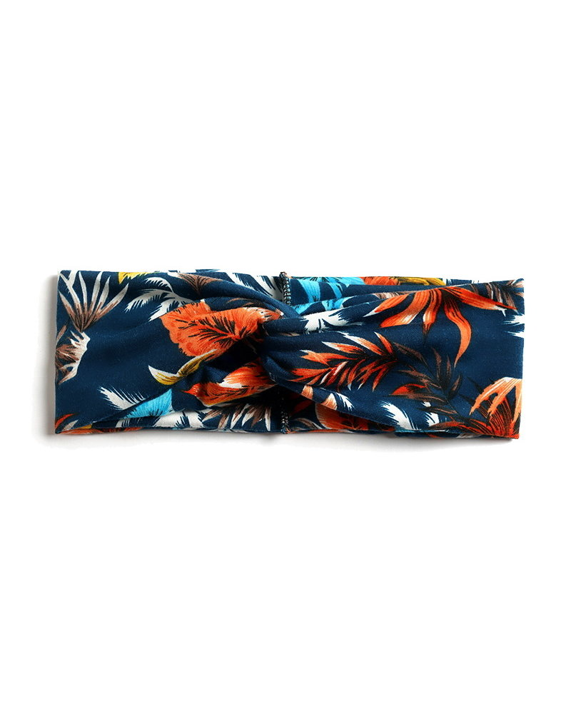 Fashion Favorite Haarband Leaf Oranje - Blauw