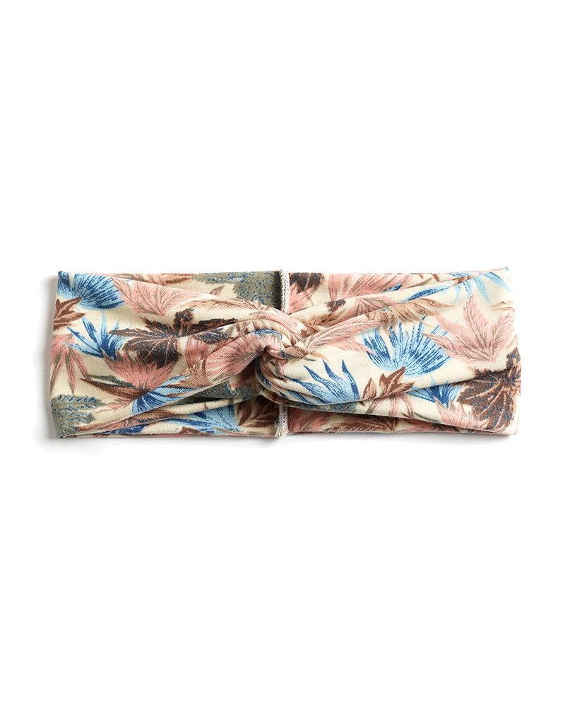 Fashion Favorite Haarband Leaf Creme - Roze - Blauw
