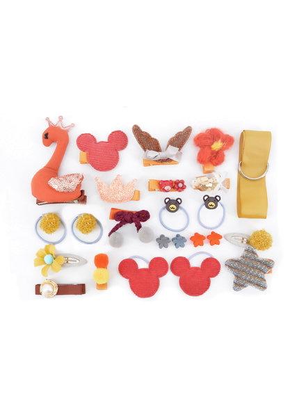 Fashion Favorite Kinder Elastiekjes Set - Roest