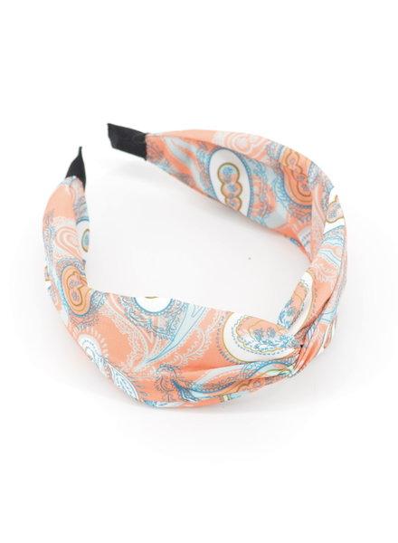 Fashion Favorite Paisley Haarband / Diadeem Koraal