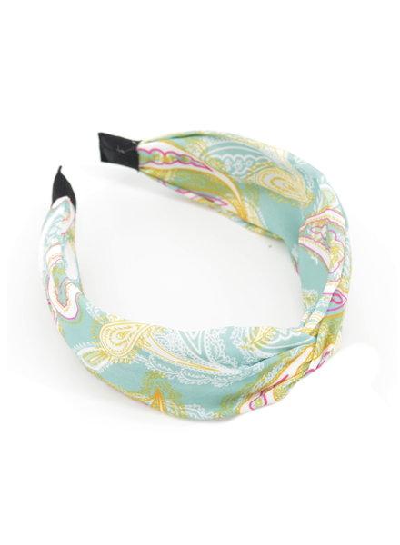 Fashion Favorite Paisley Haarband / Diadeem Blauw - Groen