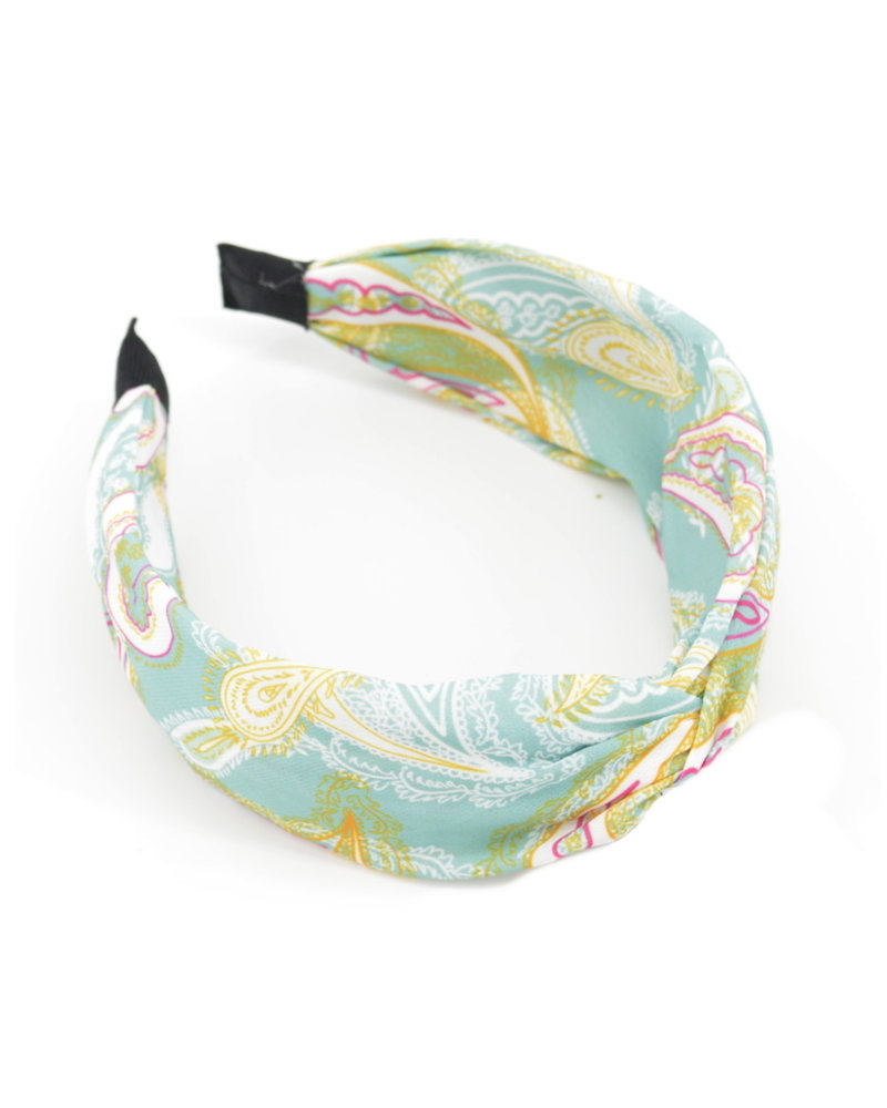 Fashion Favorite Paisley Haarband Blauw - Groen | Diadeem | Katoen/Polyester