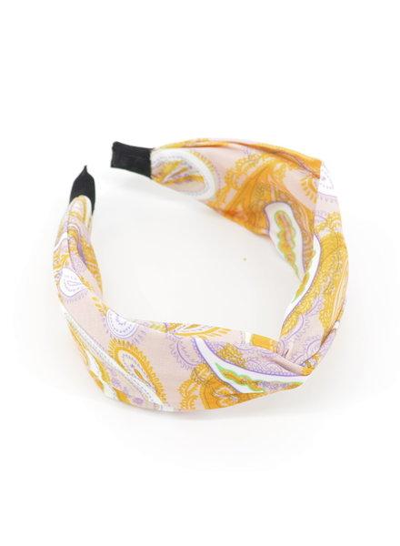Fashion Favorite Paisley Haarband / Diadeem Okergeel