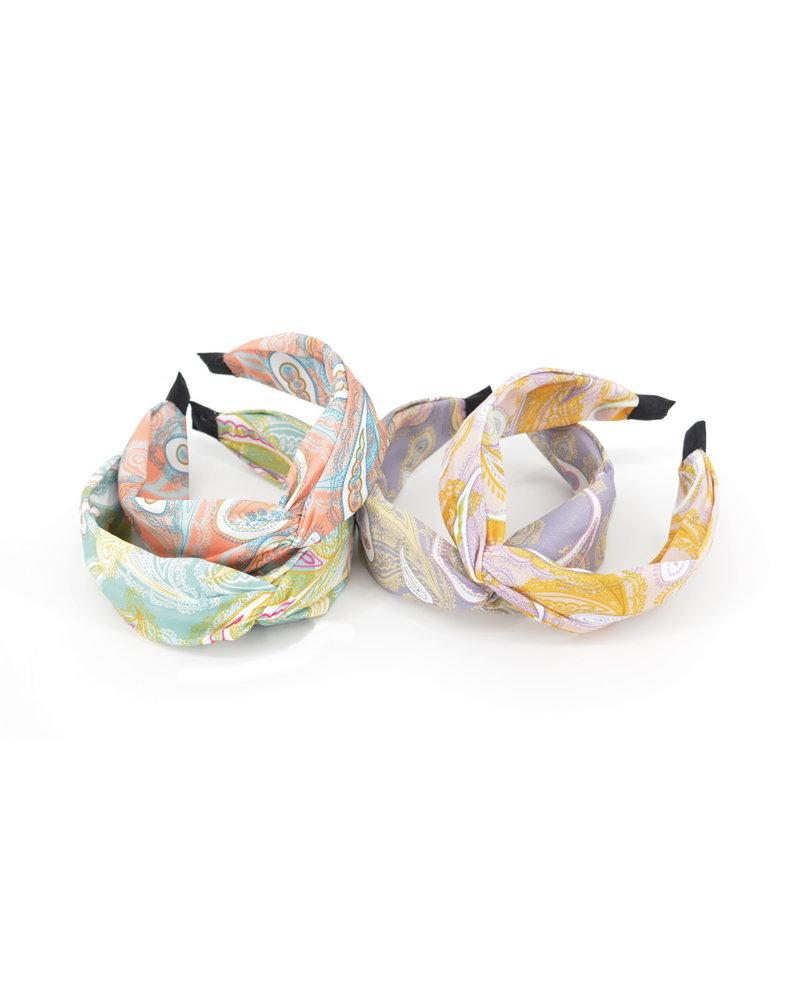 Fashion Favorite Paisley Haarband Okergeel   Diadeem   Katoen/Polyester