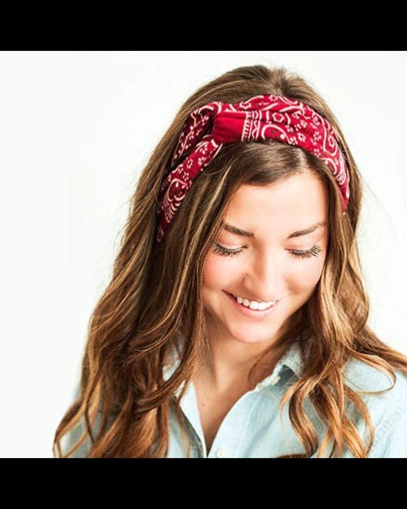 Fashion Favorite Haarband / Bandana Paisley   Lichtblauw   Elastisch / Katoen