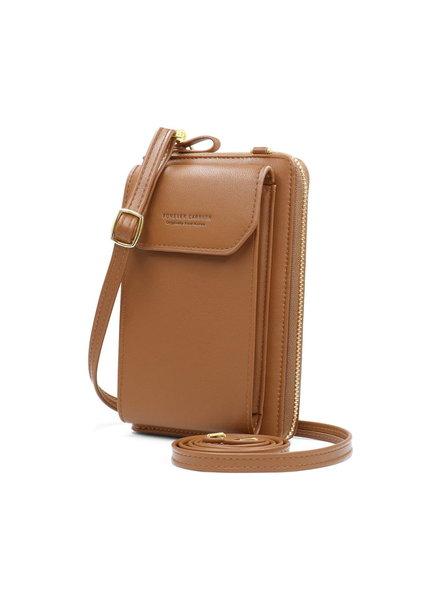 Fashion Favorite Smartphone Tasje - Cognac Bruin