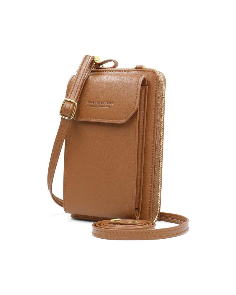 Fashion Favorite Smartphone Tasje - Cognac Bruin | Kunstleer