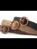 Fashion Favorite Vintage Riem | Gevlochten Zwart | 100 cm