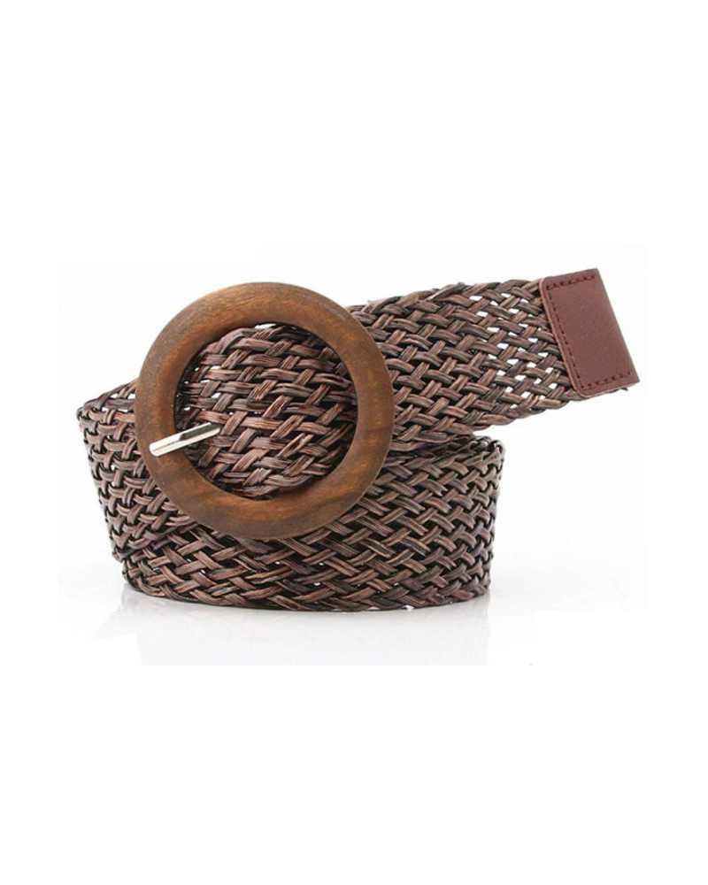 Fashion Favorite Vintage Riem | Gevlochten Donkerbruin | 100 cm
